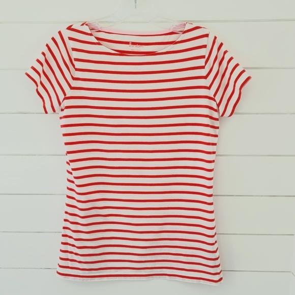BODEN Stripe Breton Short Sleeve Stripe Tee